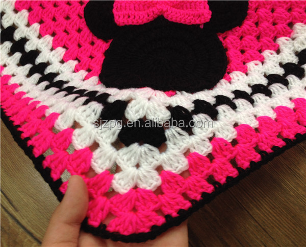Mickey Mouse Crochet Baby Blanket Pattern : Handmade Crochet Baby Blanket,Mickey Minnie Mouse Blanket ...