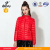 Fashion red color young design down jacket winter clothes coat for womens