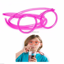 Straw Glasses Kids Crazy Clear Drinking Games Novelty Tube Party Bag