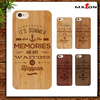 New Style Wood+PC Engraving Cell Phone Case Fashion Phone Custom Case for iPhone 5/5S