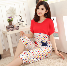 Ladies summer comfortable cotton knit sleepwear/women's secret treasures sleepwear