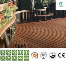 outdoor floor decking vinyl flooring with wood plastic composite material