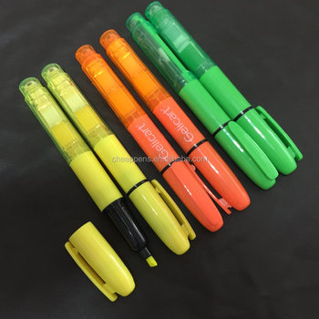 Highlighter Pens with Sticky Memo Office Decoration School Supplies
