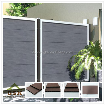 Hot selling european standard outdoor wpc garden fence with great price