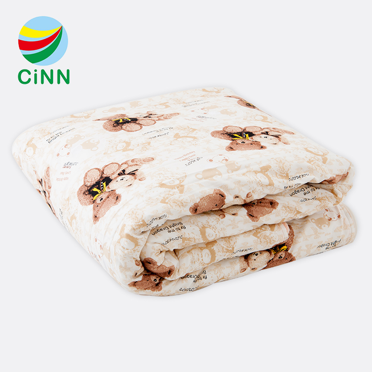 Nano infrared breathable healthy white cotton soft baby children sleeping bag