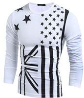 american flag printed long sleeves uk flag t shirt