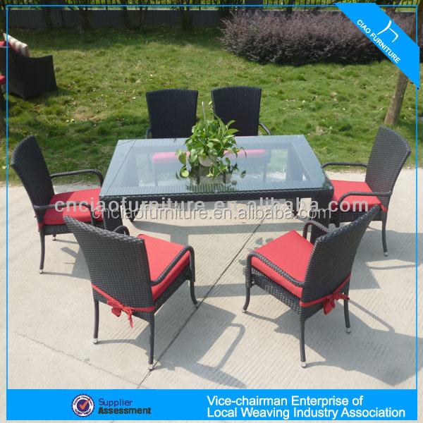 U 야외 위커 가구 여섯 명 식당 세트 (4304)-야외 테이블 -상품 ID ...