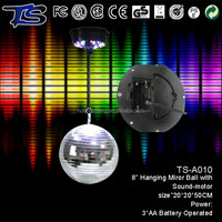 wholesale party supplies LED 8inch mirror ball disco ball light