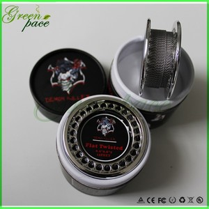 2016 hot selling vapor wire 15feet per roll clapton/alien/tiger wire wholesale Demon killer coil