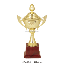 Gold completed metal trophy cups awards