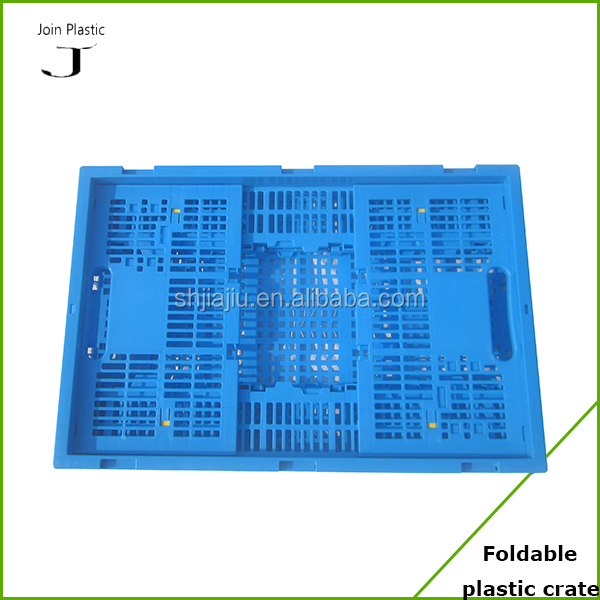 plastic folding green fruit and vegetables crates