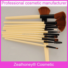 Facial fan brush natural synthenic Brown hair make up brush sale brush malaysia with belt beauty bag
