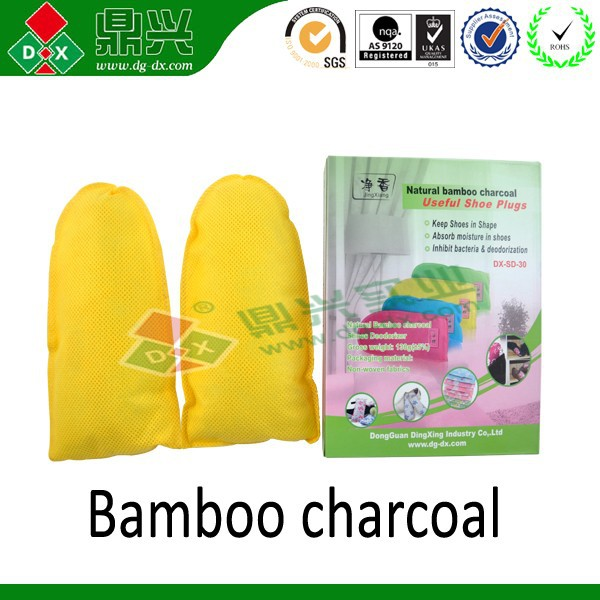 Natural bamboo charcoal bag odor removal bag shoe deodorizer insert