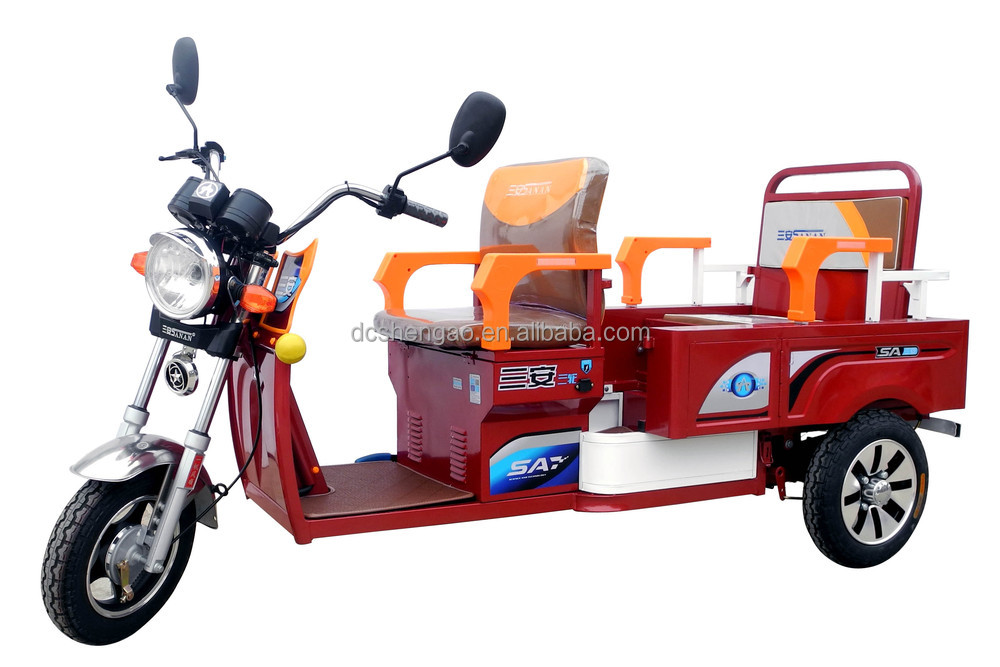 two passenger adult rickshaw/tricycle;handicapped tricycles;tandem tricycle for adults