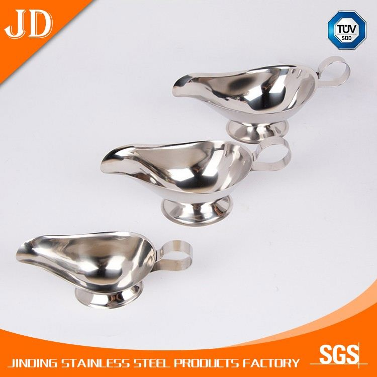 White stainless steel Novelty Personalized Gravy Boat