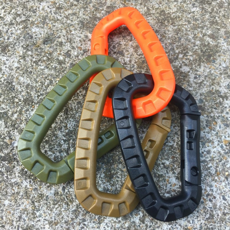 Quick Release Snap <strong>Hooks</strong> Plastic D Ring Locking Carabiner