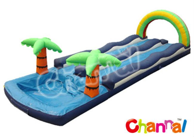 jungle inflatable long slip and slide with wet pool sale