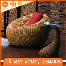 Durable Outdoor Wicker Double Day Bed PE Rattan Sofa Furniture Round Bed
