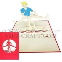 Boy and bicycle 3D pop up card