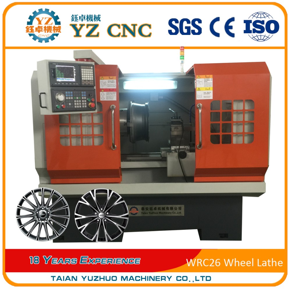 WRC 30 diamond cutting alloy wheel repair cnc lathe machine