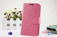 leather flip cover for samsung galaxy hello kitty case, hello kitty case for samsung galaxy s3 note 3