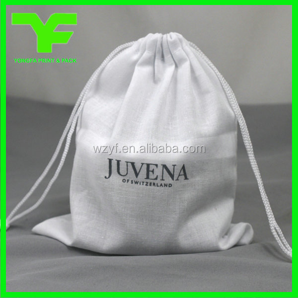 Wholesale 100% cotton fabric cotton shoe bag cotton dust bag