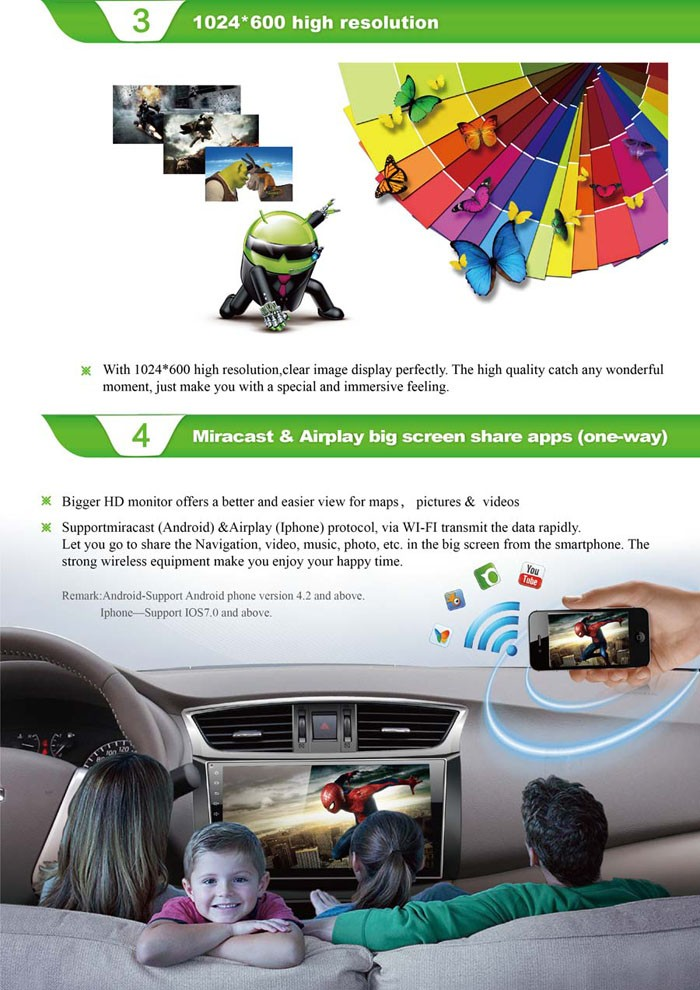 Android system 4.4 Car GPS Navigation for Kia K2 with GPS, Ipod, DVR,digital TV box, BLUETOOTH, 3G/Wifi car dvd player