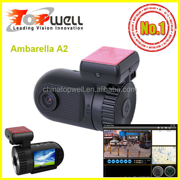 2014 The world smallest ambarella A2 chip 1.5'' LCD 1080P Full HD H.264 car black box,with or w/o GPS