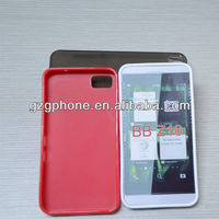 clear color andf matte finished TPU case for blackberry Z10