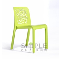 Modern appearance colourfull plastic material chair for outdoor use