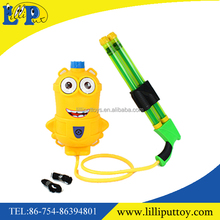 Funny double-barrelled cartoon knapsack water gun toy for kids