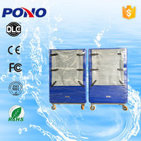 2016 China supplier high quality plastic hotel laundry cage trolley on selling with long using time