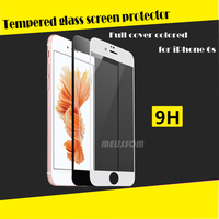 For iphone 6 /iphone 6s Front protective film full cover 3d curved tempered glass screen protector