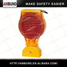 Popular road construction warning light for traffic safety and warning application with solar energy
