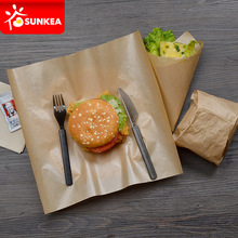 High quality disposable custom printed burger wrap