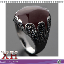 High quality classical black men ring jewelry 18k black plated male ring with zircon