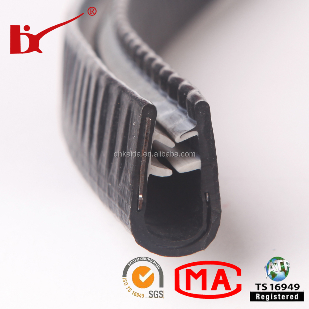 U type colored windshield PVC sealing strips for coach