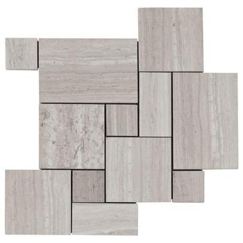 Decorstone24 Wood Look Marble French Pattern Stone Mosaic Tile For Decoration