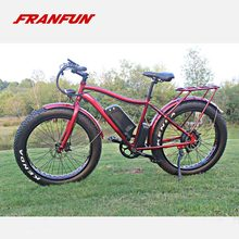 Newest China bicicletas mtb 350-500W fat tire e bike with double disc brakes