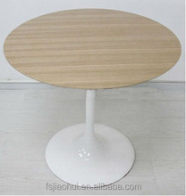 popular fiberglass base with wooden top dining table