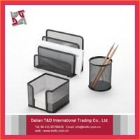metal meshoffice&school supplies black min office desk accessories