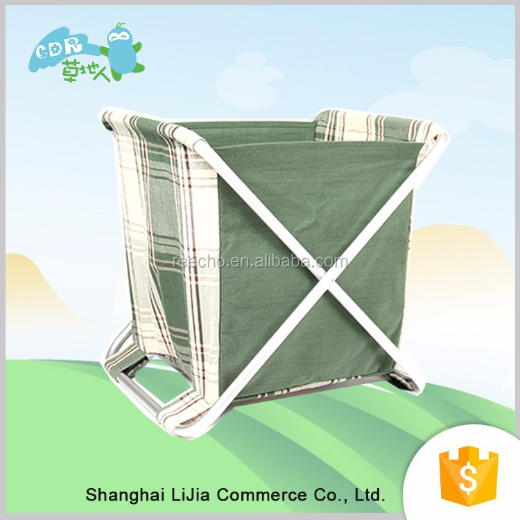 Simple Folding Rack Stripe Storage Basket Collapsible And Convenient For Office