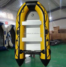 cheap inflatable boat PVC hull fish boat for sale