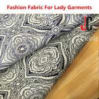 Fashion lady clothing and dress printed 100% rayon crepe fabric