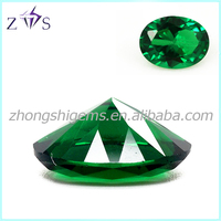 Stone for Wax Casting 5A Quality Nano Green Spinel Synthetic Gemstone