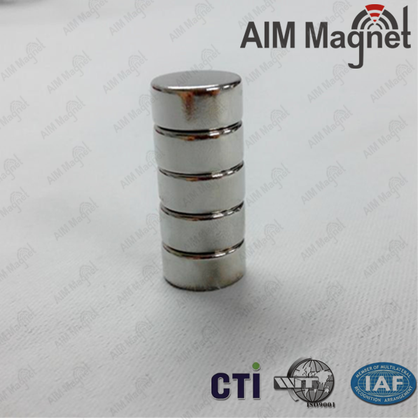 "Custom strong cylinder ndfeb magnet 1/4"" dia. x 1/4"" thick"