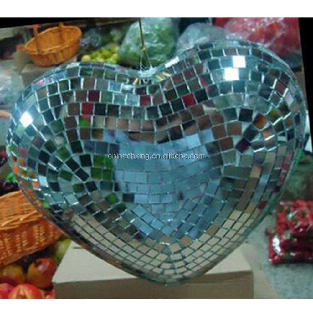 Factory price reflective mirror hearts for wedding decoration