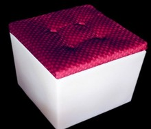 RGB illuminated LED light cube / rechargable outdoor and indoor LED cube seat with cushion