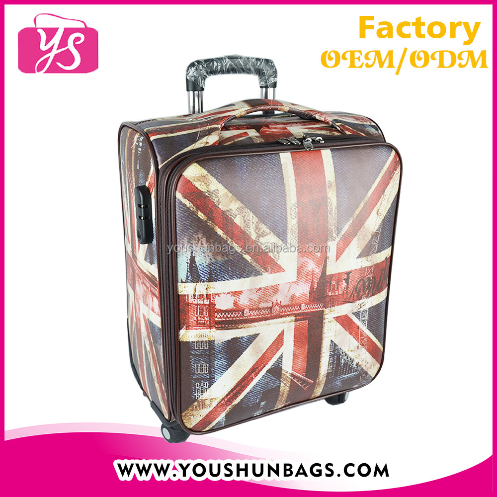 Fashionable expandable spinner carry-on trolley bag for computer