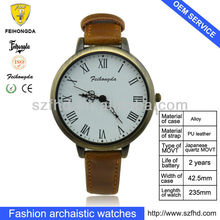 FA093L women's watch with classic dial and antique copper color